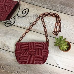 Vintage Italian Woven Crossbody Bag